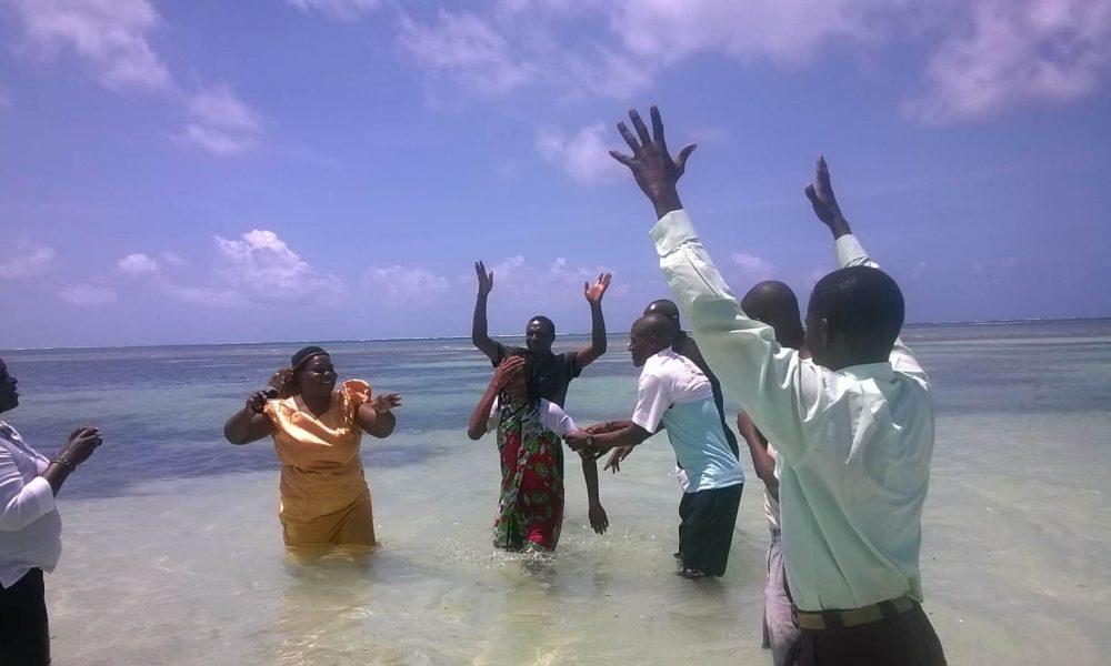 Deaf Yth Camp Baptism in Indian Ocean, 2