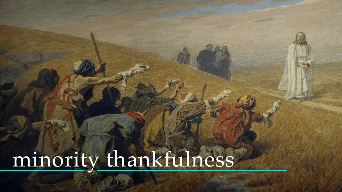 Minority Thankfulness